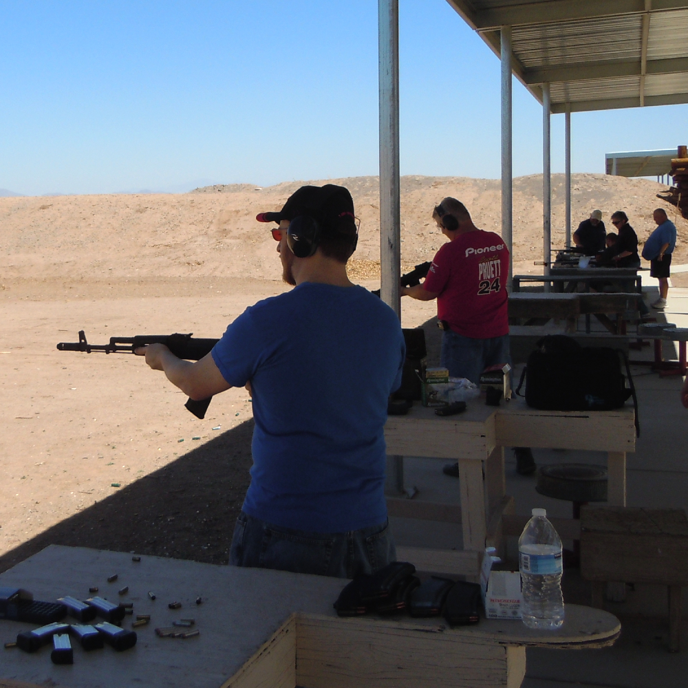 Shooter Training at a Gun Range